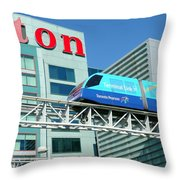 Toronto Airport Shuttle Throw Pillow