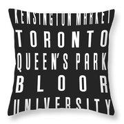 Toronto City Subway Sign Throw Pillow
