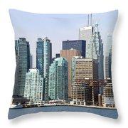 Toronto Downtown Throw Pillow