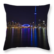 Toronto From Center Island Throw Pillow