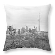 Toronto In Black And White Throw Pillow