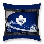 Toronto Maple Leafs Christmas Throw Pillow