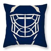 Toronto Maple Leafs Goalie Mask Throw Pillow