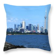 Toronto Ontario Canada Skyline Throw Pillow