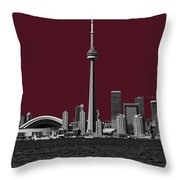 Toronto Poster Throw Pillow