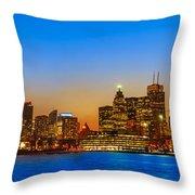 Toronto Skyline Panorama Throw Pillow