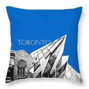 Toronto Skyline Royal Ontario Museum - Blue Throw Pillow