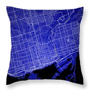 Toronto Street Map - Toronto Canada Road Map Art On Colored Back Throw Pillow