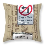 Toronto Street Sign Throw Pillow