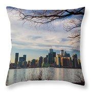 Toronto Through The Trees Throw Pillow