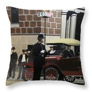Toronto Traffic Cop 1912 Throw Pillow