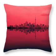 Toronto With A Twist Throw Pillow