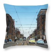 Toronto Yonge And Bloor 1954 Throw Pillow