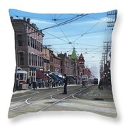 Toronto Yonge And College 1916 Throw Pillow