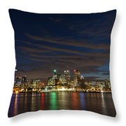 Toronto's Dazzling Skyline  Throw Pillow
