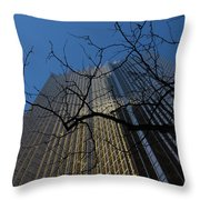 Toronto's Golden Bank - Royal Bank Plaza Downtown Throw Pillow