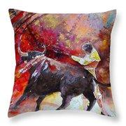 Toroscape 47 Throw Pillow by Miki De Goodaboom