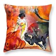 Bullfighting The Reds Throw Pillow