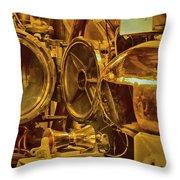 Torpedo Chamber Uss Bowfin Throw Pillow