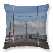 Torquay Pier Devon Throw Pillow