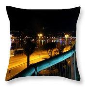 Torquay Royal Terrace Gardens Steps At Night Throw Pillow
