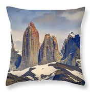 Torres Del Paine Throw Pillow