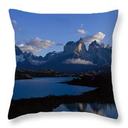 Torres Del Paine, Patagonia, Chile Throw Pillow