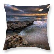 Torrey Pines Flat Rock Throw Pillow