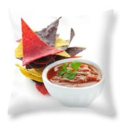 Tortilla Chips And Salsa Throw Pillow