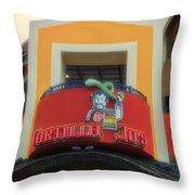 Tortilla Jos Signage Downtown Disneyland Throw Pillow