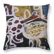 Tortoise Playing In The Hut Throw Pillow