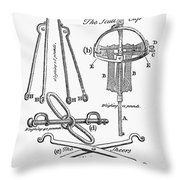 Torture Instruments Throw Pillow