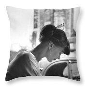 Torun Bulow-hube In Antibes 1962 Throw Pillow