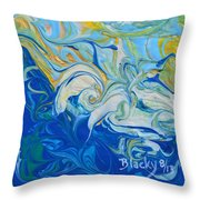 Tossed In The Waves Throw Pillow