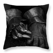 Tossing The Gauntlet Throw Pillow