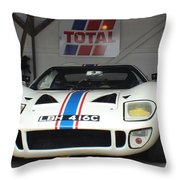 Total Ford Gt 40 Throw Pillow