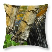 Totally Birching Throw Pillow