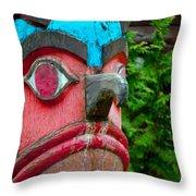 Totem Face Throw Pillow