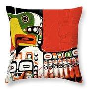 Totem Pole 02 Throw Pillow