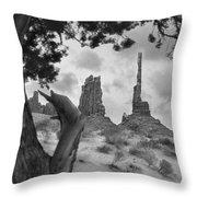 Totem Pole - Arizona Throw Pillow