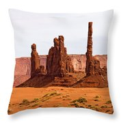 Totem Pole Buttes Throw Pillow