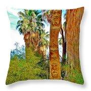 Totem Pole In Coachella Valley Preserve-california Throw Pillow