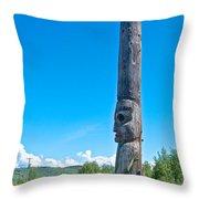 Totem Pole In Gitwangak-bc Throw Pillow
