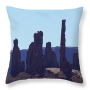 Totem Pole In Monument Valley Throw Pillow
