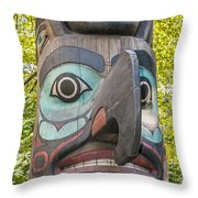 Totem Pole In Seattle  Throw Pillow by Bryan Mullennix
