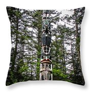 Totem Pole Of Southeast Alaska Throw Pillow