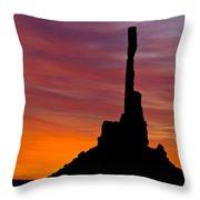 Totem Pole Sunrise Throw Pillow