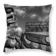 Totems 2 Throw Pillow