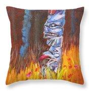 Totems Of Haida Gwaii Throw Pillow