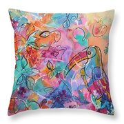 Toucan Dreams Throw Pillow